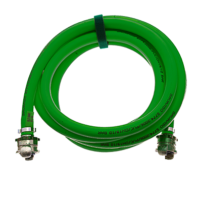 LOW-PRESSURE LIFTING BAGS - INFLATION HOSES GREEN RIGID