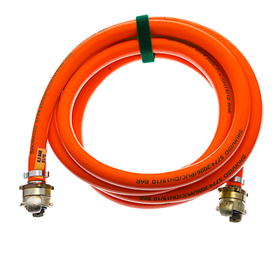 LOW-PRESSURE LIFTING BAGS - INFLATION HOSES RED RIGID